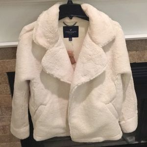 American Eagle fluffy pea coat